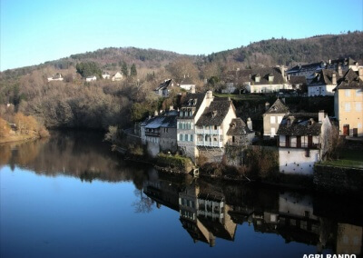 Argentat in Corrèze while hiking Agri Rando